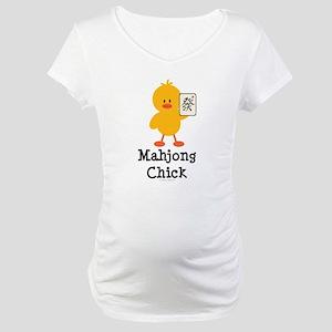 Mahjong Chick Maternity T-Shirt