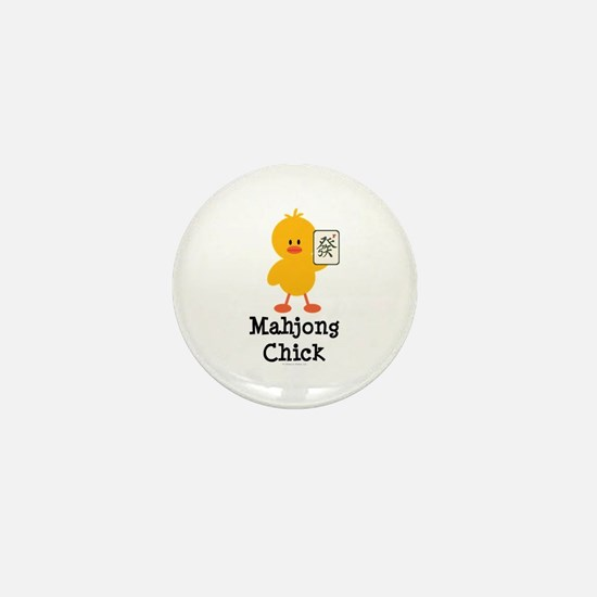 Mahjong Chick Mini Button
