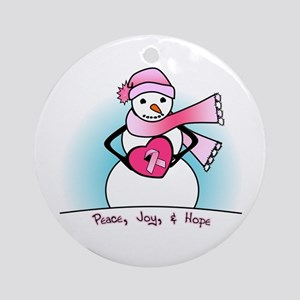 Peace, Joy, & Hope Ornament (Round)