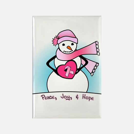 Peace, Joy, & Hope Rectangle Magnet