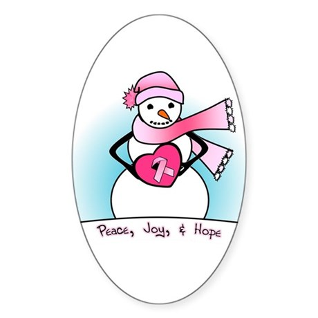 Peace, Joy, & Hope Oval Sticker