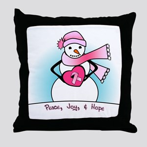 Peace, Joy, & Hope Throw Pillow