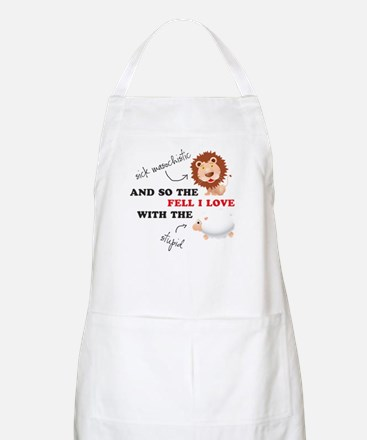 And so the Lion fell in love Apron