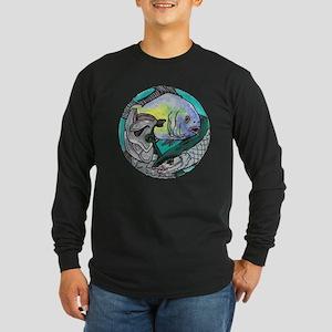 Permit, Bonefish, Tarpon Long Sleeve Dark T-Shirt