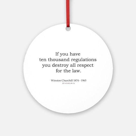 Winston Churchill 12 Ornament (Round)