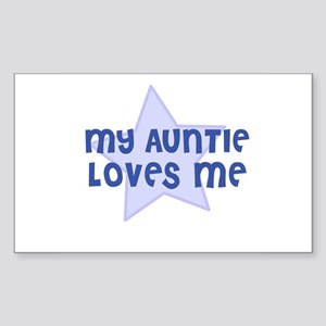 My Auntie Loves Me Rectangle Sticker