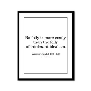 Winston Churchill 16 Framed Panel Print