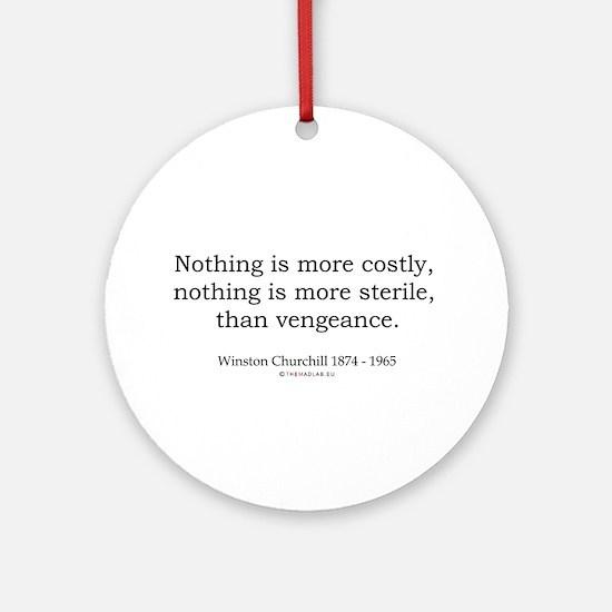 Winston Churchill 17 Ornament (Round)