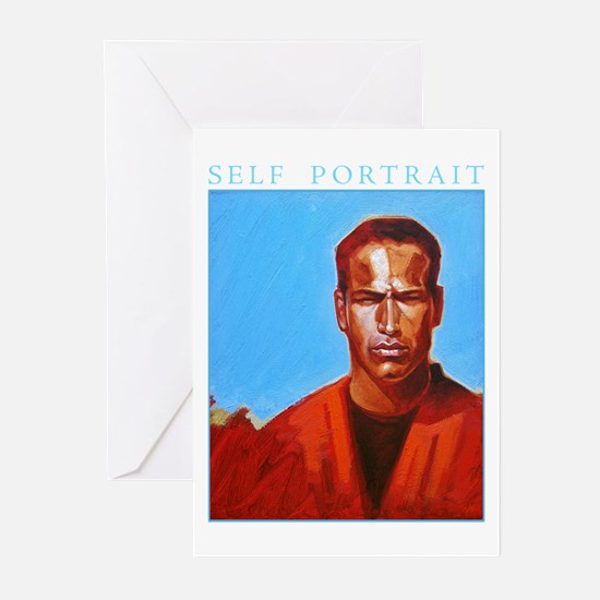 Self Portrait Blue Greeting Cards (Pk of 20)