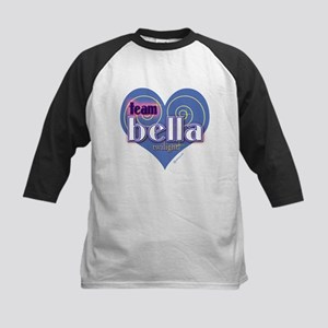 Team Bella Big Blue Heart Kids Baseball Jersey