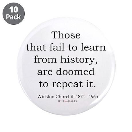 "Winston Churchill 20 3.5"" Button (10 pack)"