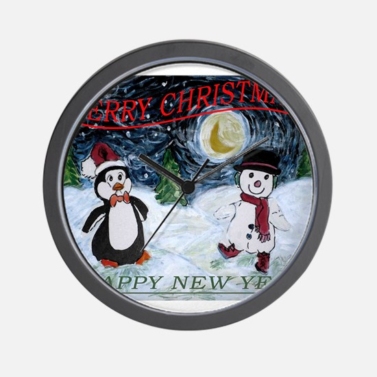 Christmas Wishes Wall Clock