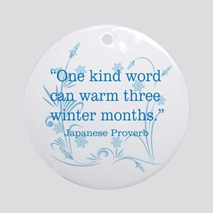 One Kind Word Ornament (Round)