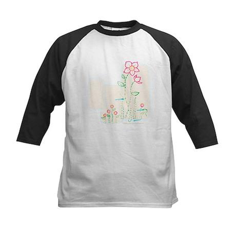"""""""Flower Stitching w/ Buttons"""" Kids Baseball Jersey"""