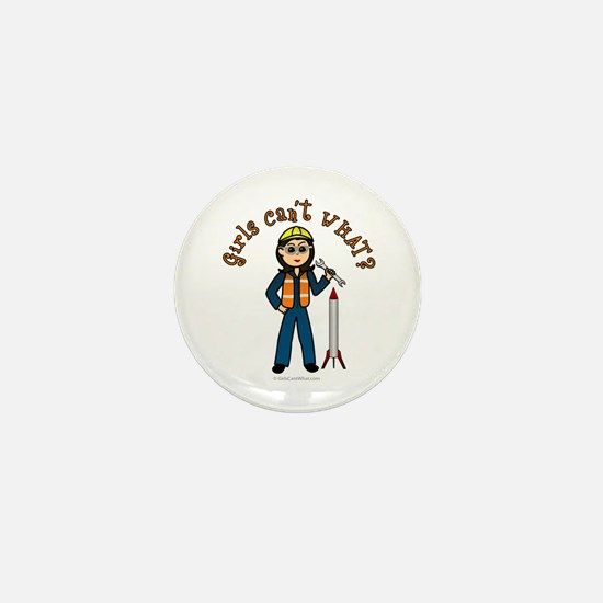 Light Rocket Scientist Mini Button