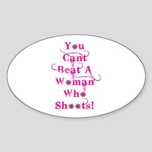 Domestic Violence Self Defens Oval Sticker