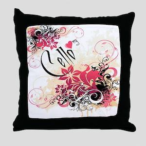 Heart My Cello Throw Pillow