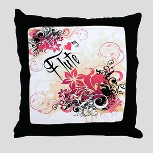 Heart My Flute Throw Pillow