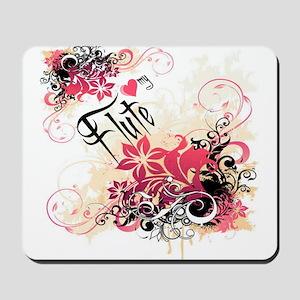 Heart My Flute Mousepad