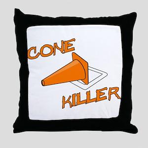 Cone Killer Throw Pillow