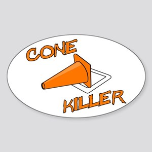 Cone Killer Sticker (Oval)