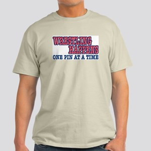 Wrestling Happens Ash Grey T-Shirt