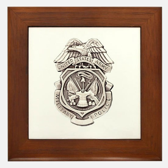 Army Military Police Framed Tile