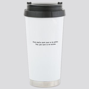 First Drafts Stainless Steel Travel Mug