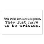 First Drafts Rectangle Sticker 50 pk)