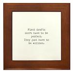 First Drafts Framed Tile