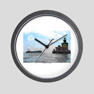 Christmas Toledo Harbor Light & Ship Wall Clock