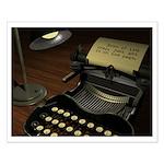 Typewriter Small Poster