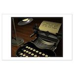 Typewriter Large Poster