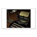 Typewriter Rectangle Sticker 50 pk)