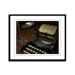 Typewriter Framed Panel Print