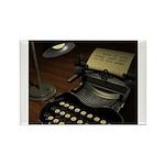 Typewriter Rectangle Magnet (10 pack)