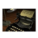 Typewriter Postcards (Package of 8)