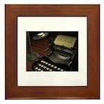 Typewriter Framed Tile