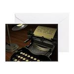 Typewriter (blank inside) Greeting Cards (20 pk)