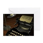 Typewriter (blank inside) Greeting Cards (10 pk)