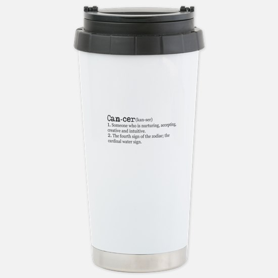Cancer Definition Stainless Steel Travel Mug