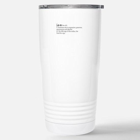 Leo Definition Stainless Steel Travel Mug