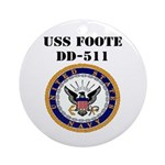 USS FOOTE Ornament (Round)