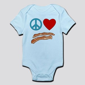 Peace Love Bacon Symbology Infant Bodysuit