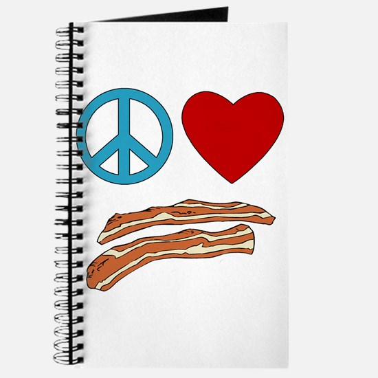 Peace Love Bacon Symbology Journal