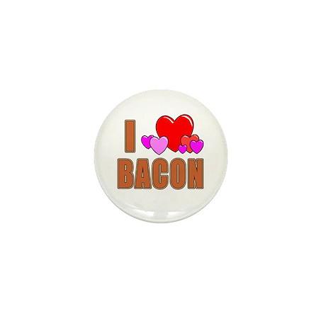 I Love Bacon Mini Button (10 pack)
