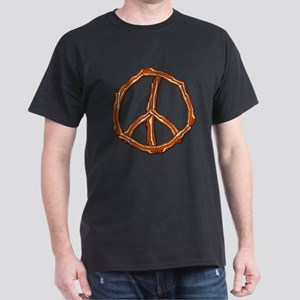 Bacon Peace Sign Dark T-Shirt