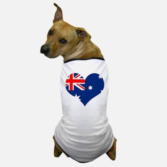 Australia Heart Flag Dog T-Shirt