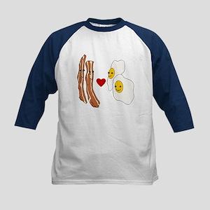 Bacon Loves Eggs Kids Baseball Jersey