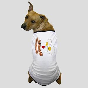 Bacon Loves Eggs Dog T-Shirt